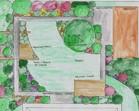 Wstępna koncepcja zagospodarowania ogrodu przydomowego - Droszków.