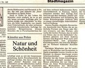 Badische Zeitung 1/2 VII 1989 Victoria Rupprecht