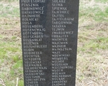 Tablica z nazwiskami rodzin żydowskich.