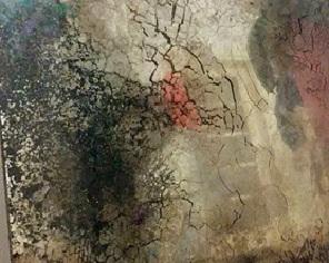 fragment postarzanego lustra w róznych odcieniach