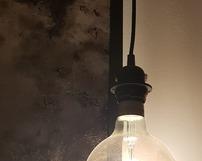 WZ1 / lustro postarzane  w czarnej drewnianej ramie - detal