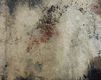 WZ9 / różnokolorowe lustra postarzane - Odcienie niebieskie granatowe grafitowe oraz czerwone z towarzyszącymi spekaniami oraz przypaleniami.