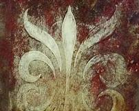WZ13 / kolorowe lustra postarzane ze wzorem - Odcienie szarości, czerwieni oraz złota