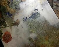 WZ15 / różnokolorowe lustra postarzane - Odcienie złote, niebieskie oraz oksydowane