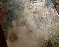 różnokolorowe lustra postarzane - Odcienie zlote niebieskie turkusowe zielone fioletowe plus spekania i przypalenia