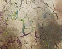 WZ10 / różnokolorowe lustra postarzane - Odcienie zlote niebieskie turkusowe zielone fioletowe plus spekania i przypalenia