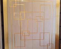 Fronty garderoby pozłacane ręcznie szlagmetalem /imitacja złota/