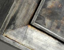 rama srebro oksydowane z patyną