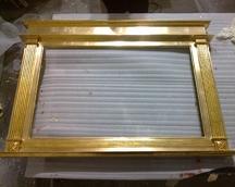 Rama złoto w polerze oraz szlagmetal