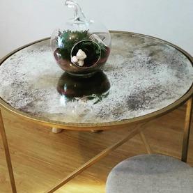 Stolik kawowy z blatem z lustra postarzanego - Grójec 2020