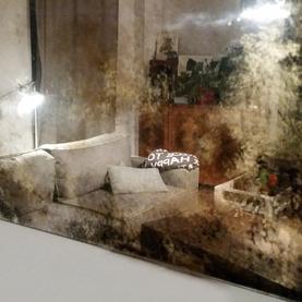 lustro postarzane /1,60 x 80 cm/ odcienie ciepłe złote - Mokotów 2018