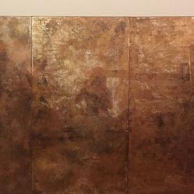 Lustra postarzane w odcieniach miedzi - fronty do barku