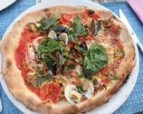 Malcesine - pizza z owocami morza