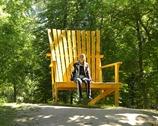 Zamek Raudań - krzesełko dla zwiedzających :)