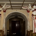 Hermy aniołów spod chóru muzycznego z końca XIII wieku