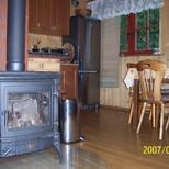 kominek domek drewniany