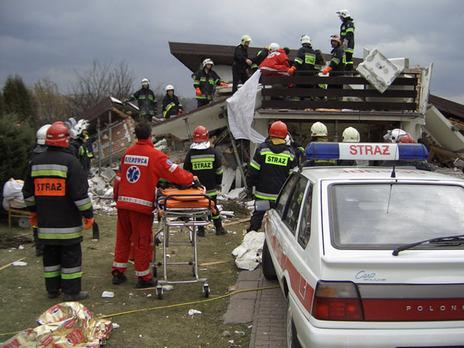 Wybuch gazu w budynku mieszkalnym w 2006 roku, pożary łąk w 2012r.