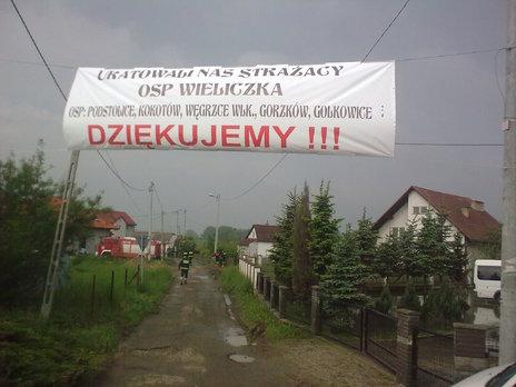 Podziękowania od   mieszkańców Brzegów