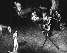 Ci, którzy siedzą w chlewach zadowoleń a znaczy to smierć / 1998 / 49 x 39,5 cm