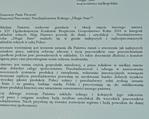 List gratulacyjny od Prezydenta RP Andrzeja Dudy