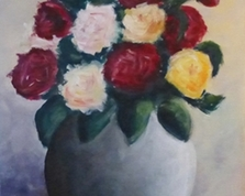 Bukiet róż, 45x35,15.10.2013r.
