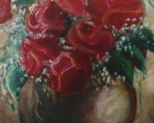 Czerwone róże, 60x40, 21.12.2014r.