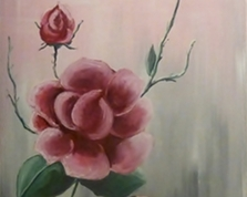 Delikatność róży, 60x40,28.12.2014r.