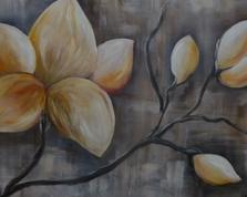 Gałąź magnolii, 60x80,19.12.2015r.
