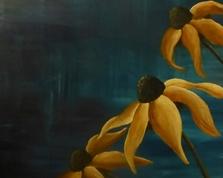 Kwiaty z błękitnego snu ,70x50,22.01.2015r.