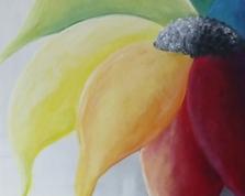 Rainbow flower ,60x40,29.06.2015r.