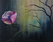 Samotność róży, 60x50, 03.01.2015r.