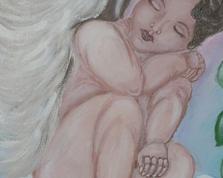Śpiący anioł,40x30