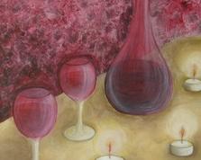 Burgundowy nastrój, 50x40