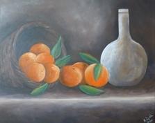 Kosz z pomarańczami, 50x60,14.03.2014r.