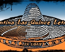 EXLIBRIS   Cantina Las Quince Letras , Guadelupe/2012