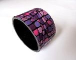 mozaikowa fioletowa bransoletka