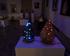 Ceramiczne podswietlane rzeźby w Galerii Rynek 6