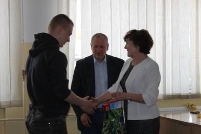 Etap okręgowy - Siennica Nadolna. Norbert Kaluźniak - zwycięzca wśród uczniów klas II.