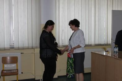 Etap okręgowy - Siennica Nadolna.  Maria Leszczyńska - zwycięzca wśród uczniów klas I.