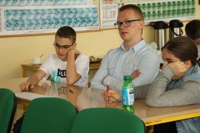 Drużyna z Gimnazjum Nr 1 w Siennicy Nadolnej.