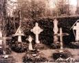 Groby na cmentarzu ewangelickim w Lęborku (1935r.)