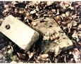 Poozostałości nagrobków w Parku Chrobrego