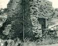 Ruiny kościoła św. Mikołaja w XIX wieku