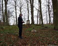 Eksploracja terenu cmentarza w Mierzynie