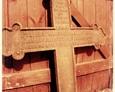 Krzyż znaleziony na cmentarzu w Dziechlinie podczas czyszczenia