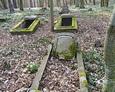 Mogiły na cmentarzu w Bychowie