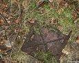 Odnalezione drzwiczki od pieca w ruinach folwarku