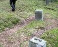 Eksploracja niewielkiego cmentarza ewangelickiego w Rąbce koło Łeby