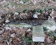 Krzyż, który odkopaliśmy spod ziemi i sterty liści