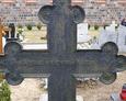 Druga strona żeliwnego krzyża